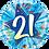 Thumbnail: Blue - 21 Shining Star Bright Blue -  Qualatex Small Foil Balloon