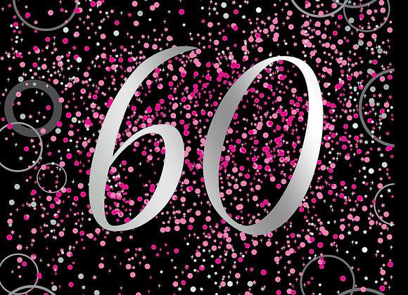 Foil Glitz 60 Pink - Napkins - Unique