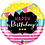 Thumbnail: Brights and Stripes Happy Birthday - Qualatex Small Foil Balloon