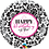 Thumbnail: Happy Birthday to you -  Pink and Black - Qualatex Small Foil Balloon