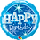 Thumbnail: Happy Birthday -  Blue - Qualatex Small Foil Balloon