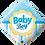 Thumbnail: Baby Boy - Blue - Diamond - Qualatex Small Foil Balloon