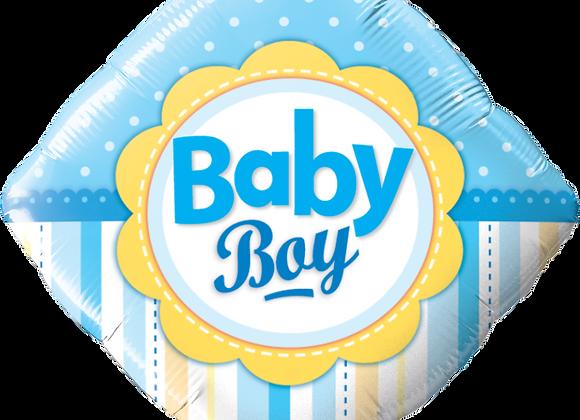 Baby Boy - Blue - Diamond - Qualatex Small Foil Balloon