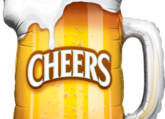 Cheers! Beer Mug- Qualatex Large Foil Balloon