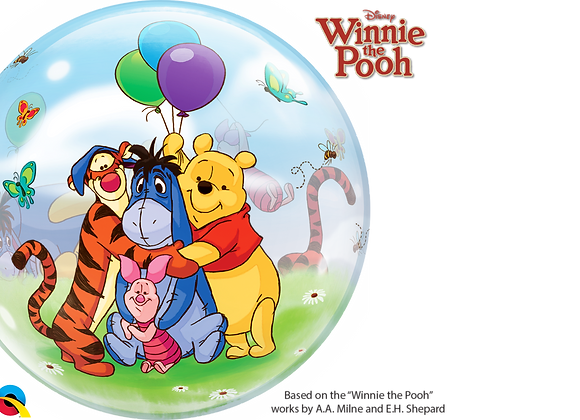 Winnie the Pooh - Qualatex Bubble Balloon