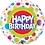 Thumbnail: Happy Birthday - Brights - Spots and dots - Qualatex Small Foil Balloon
