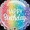 Thumbnail: Happy Birthday Rainbow Stripes - Qualatex Bubble Balloon
