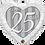 Thumbnail: Happy 25th Damask -  Qualatex Small Foil Balloon