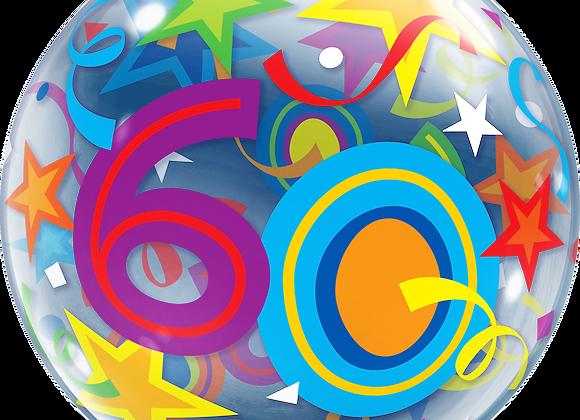 60 Brilliant Stars - Qualatex Bubble Balloon
