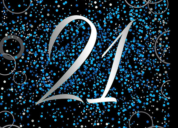 Foil Glitz 21 Blue - Napkins - Unique
