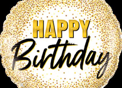 Birthday Gold Glitter Dots  -  Qualatex Small Foil Balloon