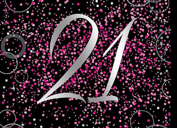 Foil Glitz Pink 21 - Napkins - Unique