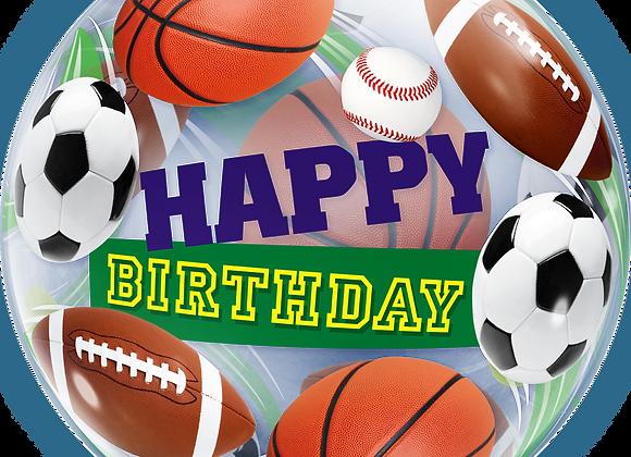 Happy Birthday Sports - Qualatex Bubble Balloon