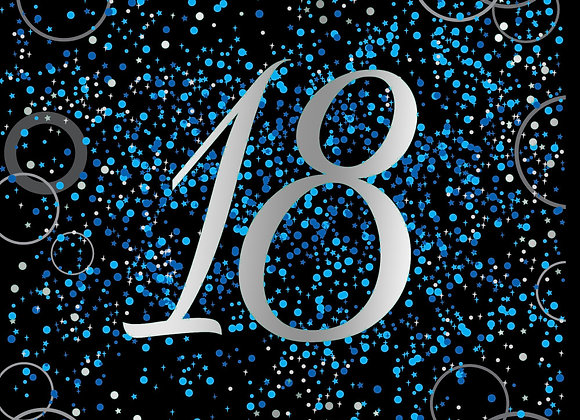 Foil Glitz 18 Blue - Napkins - Unique