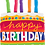 Thumbnail: Happy Birthday Cake with Candles - Qualatex Large Foil Balloon