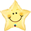 Thumbnail: Smiley Star - Qualatex Small Foil Balloon