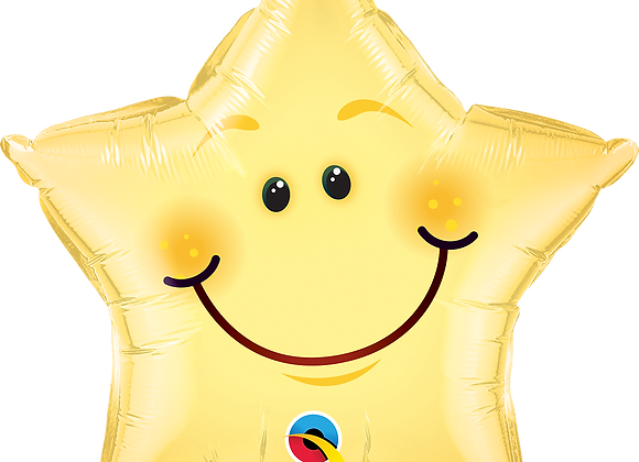 Smiley Star - Qualatex Small Foil Balloon