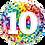 Thumbnail: Rainbow Confetti - 10 - Qualatex Small Foil Balloon