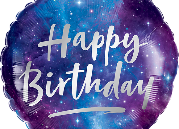 Birthday Galaxy - Qualatex Small Foil