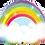 Thumbnail: Rainbow - Qualatex Large Foil Balloon