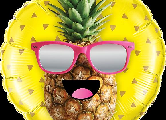 Mr Cool Pineapple - Qualatex Small Foil Balloon