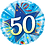 Thumbnail: Blue - 50 Shining Star Bright Blue -  Qualatex Small Foil Balloon