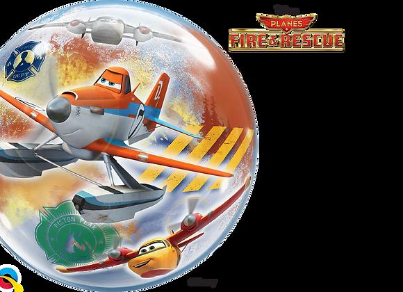 Planes - Fire and Rescue - Qualatex Bubble Balloon