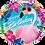 Thumbnail: Birthday Tropical Flamingo- Qualatex Small Foil Balloon