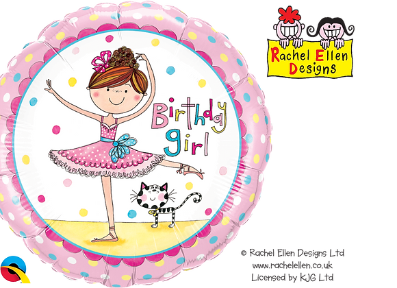 Birthday Ballet Rachel Ellen - Qualatex Small Foil Balloon