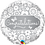 Thumbnail: Congratulations - Silver and White - Qualatex Small Foil Ball