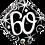Thumbnail: Diamond - 60 - Silver and Black - Qualatex Small Foil Balloon
