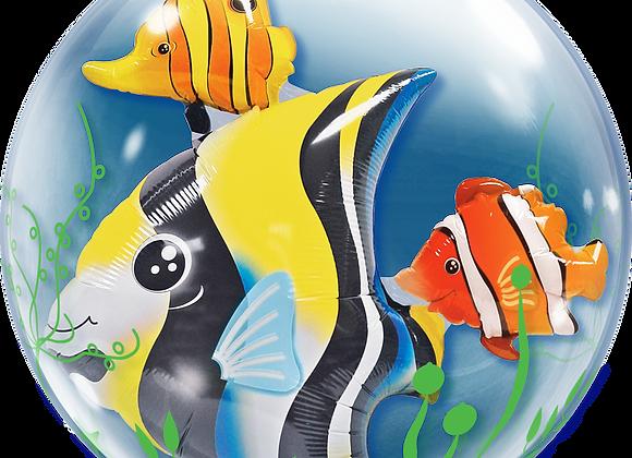 Fish - Qualatex Double Bubble Balloon