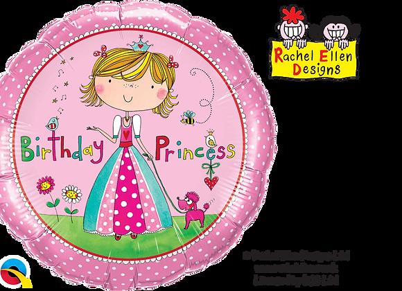 Birthday Princess Rachel Ellen - Qualatex Small Foil Balloon