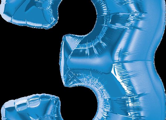 Blue - 3 - Qualatex Large Foil Balloon