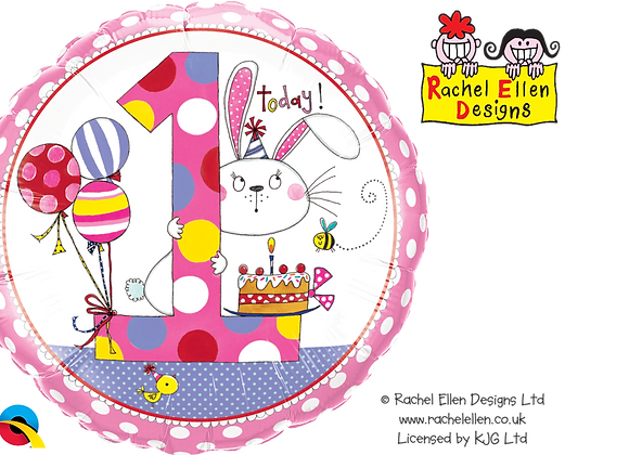 Rachel Ellen - Rabbit - 1 - Qualatex Small Foil Balloon