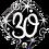 Thumbnail: Diamond - 30 - Silver and Black - Qualatex Small Foil Balloon
