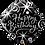 Thumbnail: Diamond - Happy Birthday - Silver and Black - Qualatex Small Foil Balloon
