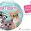 Thumbnail: HB Studio Pets Kitten with Glasses- Small Qualatex Foil
