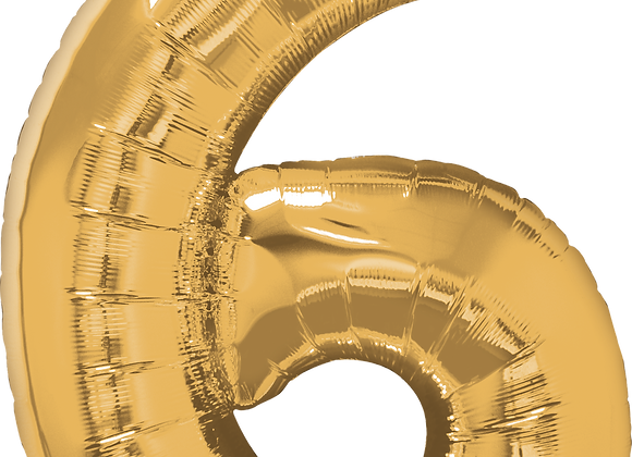 Gold - 6 - Qualatex Large Foil Balloon