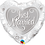 Thumbnail: Heart - Just Married - Silver and White -  Qualatex Small Foil Balloon