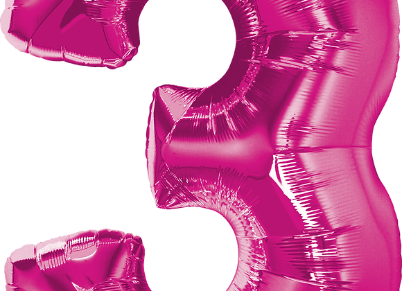 Hot Pink - 3 - Qualatex Large Foil Balloon