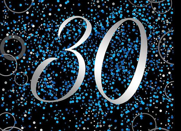 Foil Glitz 30 Blue - Napkins - Unique