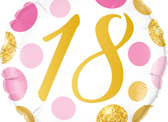 Gold and Pink 18 - Qualatex Small Foil Balloon