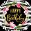 Thumbnail: Happy Birthday - Hibiscus Stripes - Qualatex Small Foil Ballo