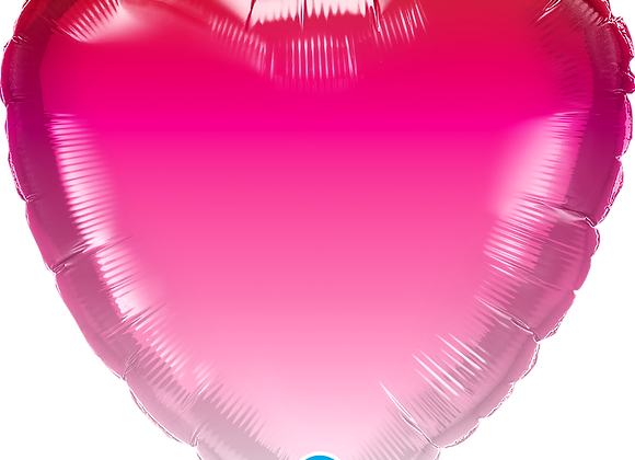 Heart Pink Ombre - Qualatex Small Foil