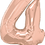 Thumbnail: Rose Gold - 4 - Qualatex Large Foil Balloon