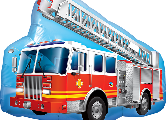 Fire Engine - Qualatex Large Foil Balloon