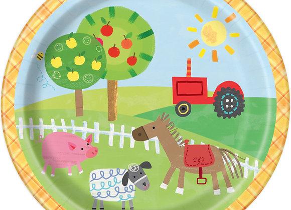 Paper Plates - Farm Party - Unique