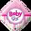 Thumbnail: Baby Girl - Pink - Diamond - Qualatex Small Foil Balloon