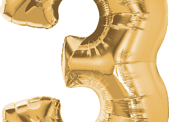 Gold - 3 - Qualatex Large Foil Balloon